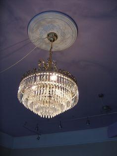 Vintage Kronleuchter - alter Kronleuchter Lüster Deckenlampe Kristall - ein Designerstück von Reinsch-deVert bei DaWanda