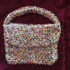 crochet with beads added | Made with glass beads and crochet.