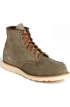 74e4ec8ec3a Red Wing 6 Inch Moc Toe Roughout Leather Boot