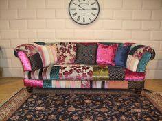 Stunning Patchwork Sofa Go Your Own Way by James and Rose Upholstery