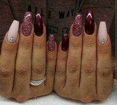 November Nail Designs Picture gorgeous nails for november december winter nails maroon November Nail Designs. Here is November Nail Designs Picture for you. November Nail Designs nail designs for sprint winter summer and fall holidays to. Maroon Nail Designs, Acrylic Nail Designs, Nail Art Designs, Nails Design, Dark Nails, Gel Nails, Manicures, Coffin Nails, Long Nails