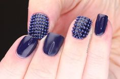 Tonal studded accent nails