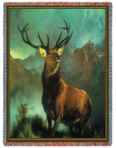 Deer Throw Blanket - Monarch of the Glen