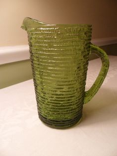 Vintage Anchor Hocking Green Soreno Drink by AmeliesFarmhouse, $8.50