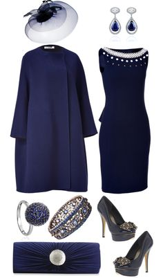 """""""Royal Navy"""" by angela-windsor on Polyvore mother of the bride dress"""