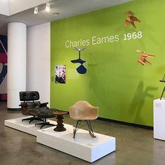 """Catch the last days of the """"Frank Brothers: The Store that Modernized Modern"""" exhibition at the University Art Museum at CSULB. We are a big fan of this Eames wall, filled with dangling chair designs."""