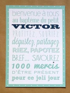Baptême Victor - Celebrating - Crème de Papier 1 Year Birthday, Baby Birthday, Baptism Party, Baby Party, Decoration Communion, Christening, Diy Gifts, Creme, Baby Love