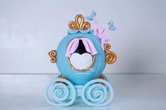 Topo de bolo, carruagem Cinderela, cake topper
