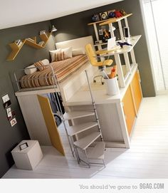 cute for small space, but hope kids aren't accident prone.  lol