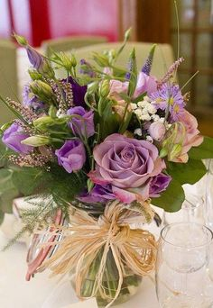 Your very first choice should be whether you plan to utilize a professional floral designer to create a wedding event flower arrangement and bouquets. Easter Flower Arrangements, Easter Flowers, Floral Arrangements, Table Arrangements, Flowers Garden, Purple Wedding Flowers, Wedding Table Flowers, Wedding Bouquets, Blue Wedding