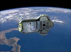 Russian Space Hotel makes common people's dream of living in space come true. Planned to be opened in the year 2016, this hotel would house seven guests in four cabins and allows guests to view the Earth turning below through large windows.
