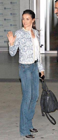 A casual Queen Letizia