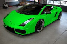 Lime green ferrari, yes that is my future car