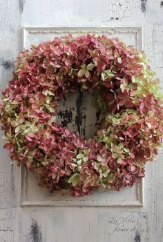475..multi-colored hydrangea wreath