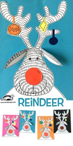 Reindeer drawing activity for Christmas