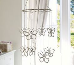 Crystal Butterfly Ceiling Mobile
