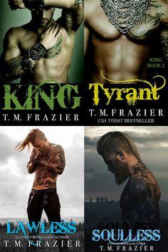 Românticos Books: T.M. Frazier - Série King #1 a #3