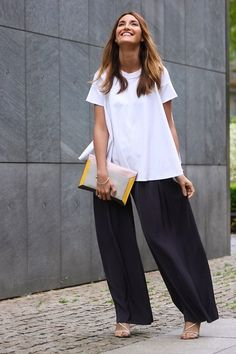 Mango Pants, Manolo Blahnik Heels, Lancel Paris Clutch, Cos Top