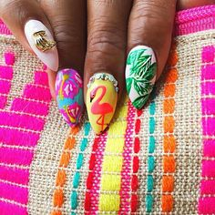 rosydesign_mie, nails, nail design, stiletto, colorful