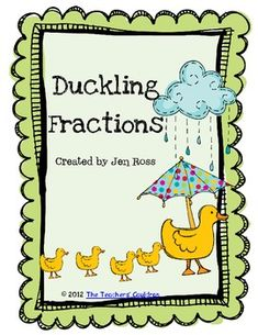 Free-Students practice their fractions with the duck pictures!Copy the duckling page on different colors of paper, or have them color in the colors th. Fraction Activities, Math Resources, Math Games, Math Activities, Teaching Fractions, Math Fractions, Teaching Math, Math Literature, Professor