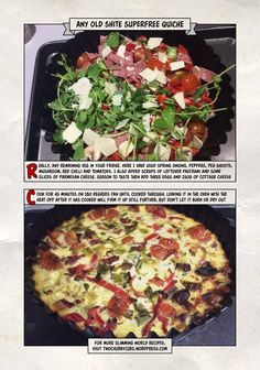 this syn free superfree quiche recipe is exactly as it says - quiche, filled with superfree food! And syn free too! Perfect for snacking, or as a lunch. Slimming World Quiche, Bacon Quiche, Frittata Recipes, Healthy Recipes, Savoury Recipes, Healthy Dinners, Egg Recipes, Dinner Recipes, Kitchens