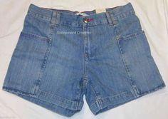 TOMMY HILFIGER Denim shorts size 4 NEW Blue Faded Stone Washed #TommyHilfiger #Denim