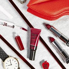 Fall Color Trend Alert: Wine Lips!  For a deep red lip check out Maybelline New York's lipsticks and lip glosses. For a long lasting lipstick check out SuperStay 24hour lip color. Color Jolt is the next must have lip paint while Color Sensational is a classic beauty must have.