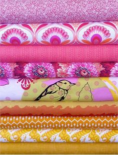 Fabricworm Custom Bundle, Bird's the Word in FAT QUARTERS 9 Total