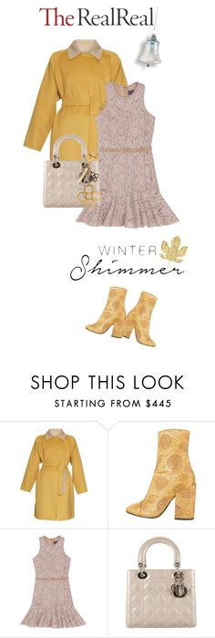 """""""Holiday Sparkle With The RealReal: Contest Entry"""" by drigomes ❤ liked on Polyvore featuring MaxMara, Dries Van Noten, Lanvin, Christian Dior and Louis Vuitton"""