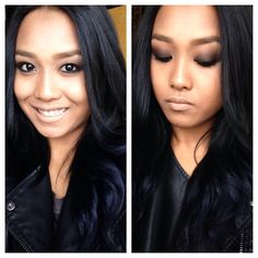 #navy blue hair #navy blue ombre #ombrehair