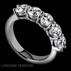 Classic five stone eternity ring