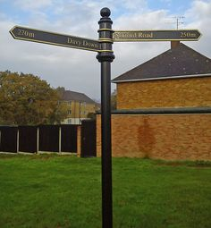 Traditional stainless steel fingerpost from Fitzpatrick Woolmer