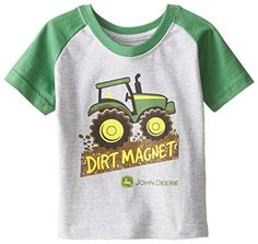 John Deere Baby Boys Dirt Magnet Short Sleeve Tee Heather GreyGreen 18 Months * To view further for this item, visit the image link.Note:It is affiliate link to Amazon.