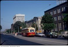 George Street is one of the shortest roads we've devoted a historical post to, stretching just a few kilometres between College and Dupont. Evening Sandals, Busses, Historical Photos, Niagara Falls, Montreal, Boys, Girls, Toronto, The Past