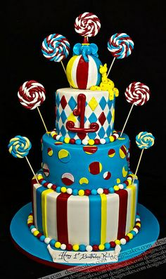 Candy land / carnival cake! by Design Cakes, via Flickr