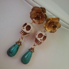 Day of the Dead earrings from http://polishedtwo.etsy.com