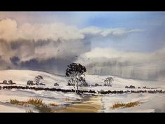 Northumberland Winter Watercolour - YouTube Watercolor Art Landscape, Watercolor Artists, Watercolor Paintings, Watercolours, Watercolour Tutorials, Painting Tutorials, Winter Cards, Art Lessons, Paint Colors
