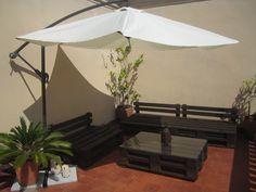 La terraza chill-out de palets de Ivan y Anna : x4duros.com