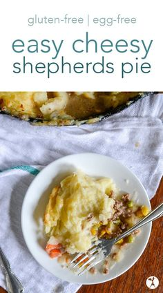 Love shepherds pie? You've never tasted it like this before! Naturally gluten-free, this family-friendly easy cheesy shepherds pie is a sure winner! #cheese #shepherdspie #glutenfree #eggfree #maindish #familyfriendly #sponsored #familymeals #largefamily