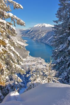 The Achensee is gorgeous any time of year, but a true wonderland in Winter! #Achensee in winter, Austria