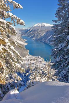 #Achensee in winter, Austria