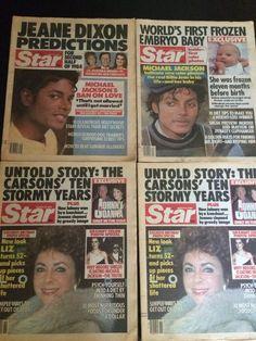 Vintage Star Tabloid Newspaper Michael Jackson Set Of 4 1984 Issues