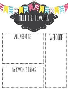 editable meet the teacher letter fun at school pinterest