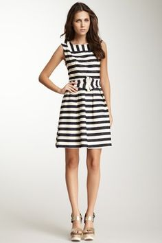 Madison Striped Belted Dress