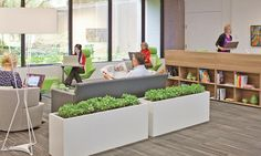 """<p>Some workers choose to retreat from the structure of their day and relocate for a few hours to these comfortable spaces in Steelcase's WorkCafé that create a """"palette of place"""" throughout their workday.</p>"""