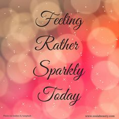 Just the right feeling for a Friday! #zosiabeauty #skincare #sparkles #FridayFeeling