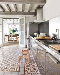 Kitchen and lovely tile floor