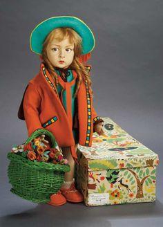 Lenci 110 - This doll looks like a real little person w/make-up on.
