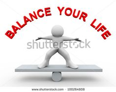 3d Render Of Man On Scale With Text Balance Your Life Stock Photo 100264808 : Shutterstock