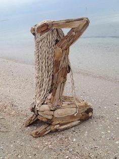 New Nature Art Sculpture Statues Ideas Art Sculpture En Bois, Driftwood Sculpture, Driftwood Art, Wooden Sculptures, Wooden Statues, Outdoor Sculpture, Art Et Nature, Arte Peculiar, Wood Carving Art